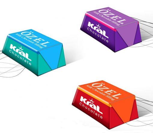 شکلات صندوقی شیری مغزدار اوزل کرال ozel