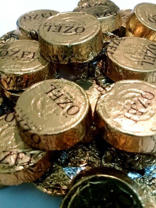شکلات پذیرایی دارک طرح سکه ای اوزل