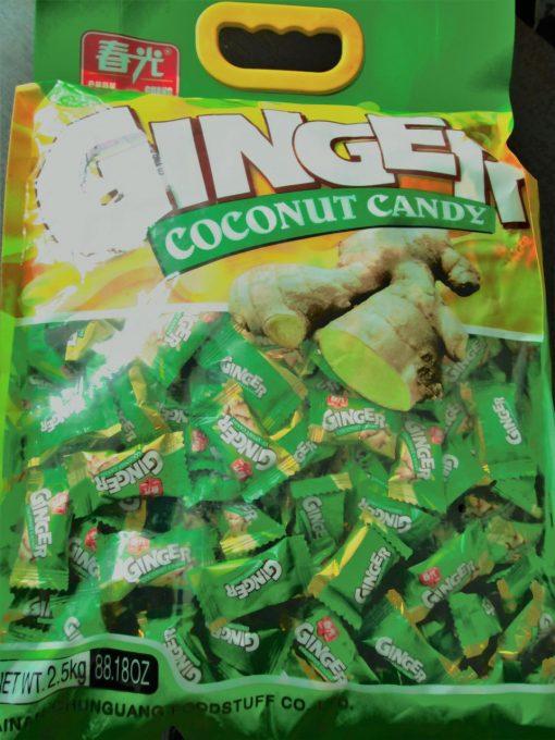 آبنبات زنجبیلی ginger در بسته های دو و نیم کیلوگرمی