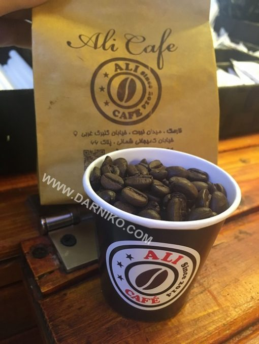 دانه قهوه ترکیبی علی کافه نارمک