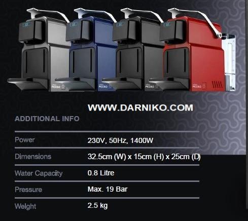 مشخصات دستگاه قهوه کپسولی CAFFELUXE PICCOLO