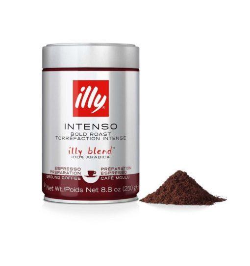 پودر قهوه ایلی اسپرسو دارک روست illy Ground Espresso Intenso (Dark Roast) Coffee