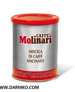 پودر قهوه مولیناری 250 گرمی قوطی فلزی MOLINARI COFFEE