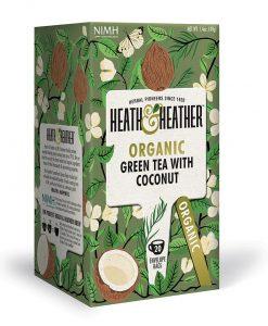 دمنوش چای سبز و نارگیل هیت اند هیتر