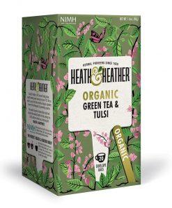 دمنوش چای سبز و ریحان مقدس هیت و هیتر