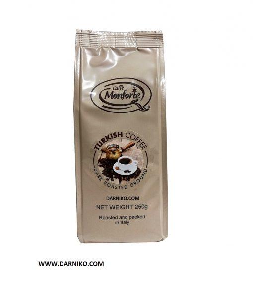 قهوه ترک تیره 250 گرمی مونفورته ایتالیا MonForte Turkish Coffee
