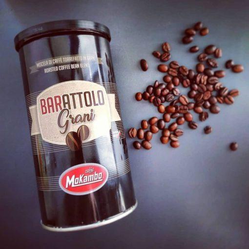 دانه قهوه موکامبو باراتولو قوطی فلزی Caffe Mokambo Barattolo 250g