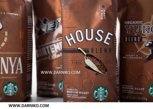 دانه قهوه هوس بلند استارباکس StarBucks HOUSE BLENDدانه قهوه هوس بلند استارباکس