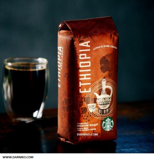 دانه قهوه اتیوپی استارباکس مدیوم روست STARBUKS