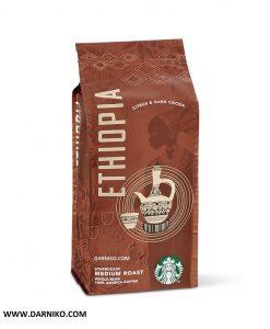 دانه قهوه اتیوپی استارباکس مدیوم روست