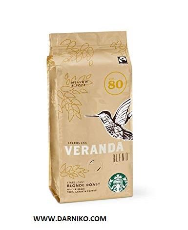 دانه قهوه وراندا بلند استارباکس لایت روستSTARBUSKS VERANDA BLEND BLOND ROAST BEANS