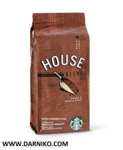 دانه قهوه هوس بلند استارباکس 250 گرمی StarBucks HOUSE BLEND