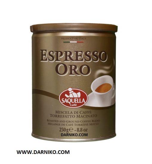 پودر قهوه ساکوئلا اسپرسو اورو 250 گرمی SAQUELLA