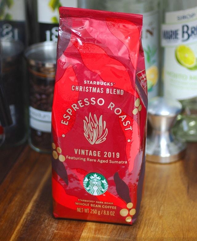 دانه قهوه اسپرسو روست کریسمس بلند استارباکساسپرسو کریسمس ) 2019 StarBucks Christmas Blend Espresso Roast coffee