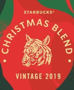 دانه قهوه کریسمس بلند استارباکس