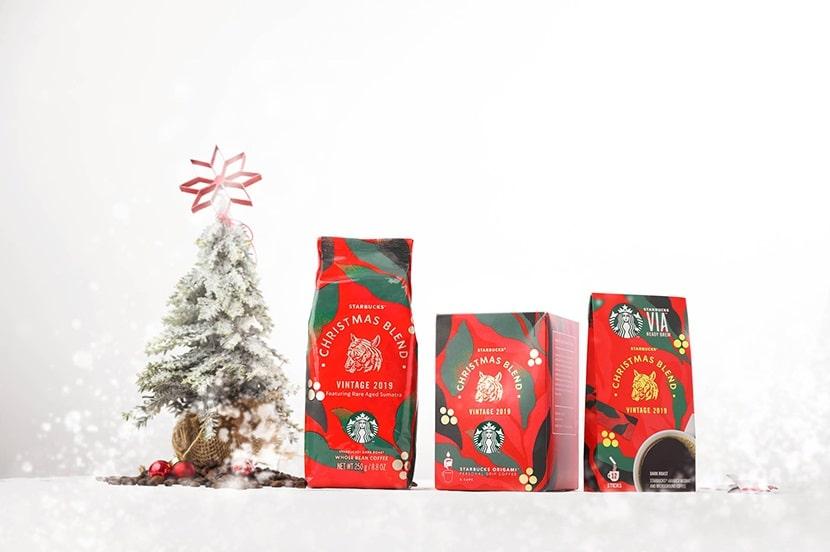 دانه قهوه کریسمس بلند استارباکس (ترکیب ویژه کریسمس) 2019 StarBucks Christmas Blend