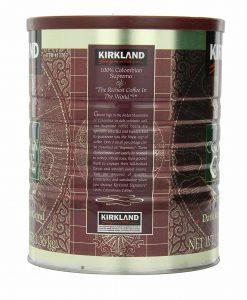 پودر قهوه کلمبیا سوپریمو دارک روست KIRKLAND signature 100% ColombianSupremo Coffee
