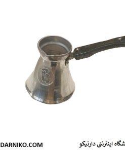 شیر جوش و قهوه جوش ترک آلومینومی 6 فنجانه با دسته پلاستیکی