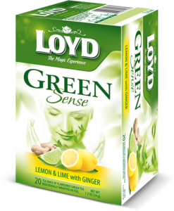 دمنوش چای سبز با لیمو وزنجبیل لوید
