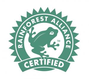 rainforest-alliance-certified گواهینامه™Alliance Certifiedقورباغه سبز