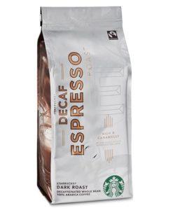 دانه قهوه استارباکس دی کف اسپرسو Starbucks Espresso DECAF 250g بدون کافئین