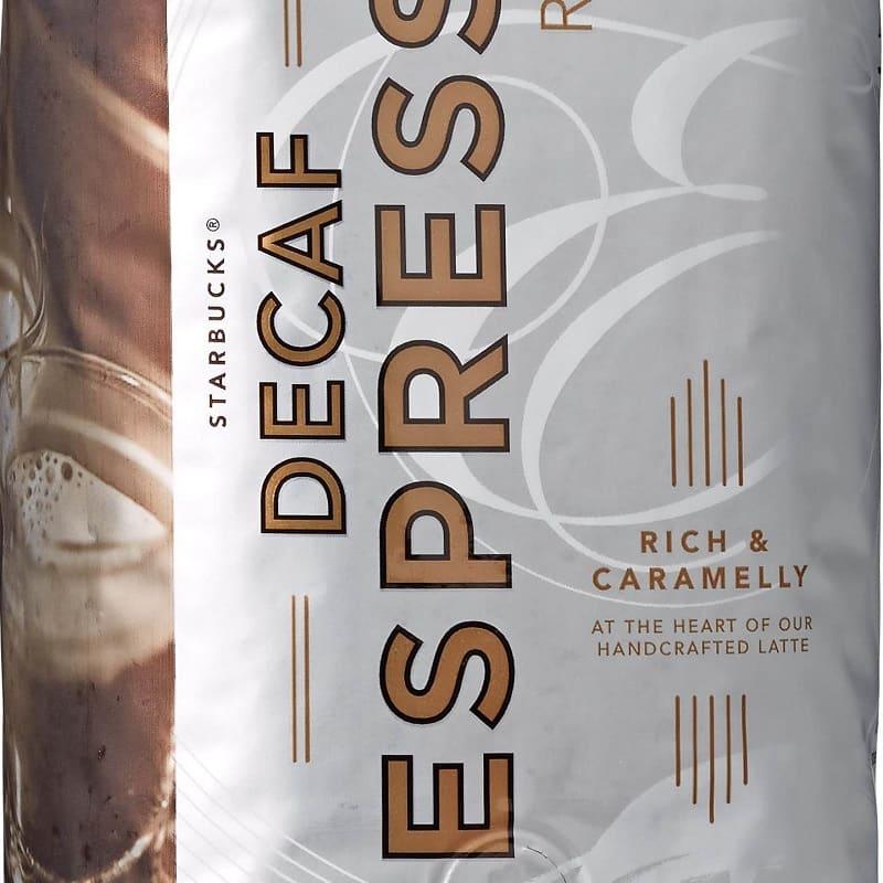 دانه قهوه استارباکس دی کف اسپرسو Starbucks Espresso DECAF 250g