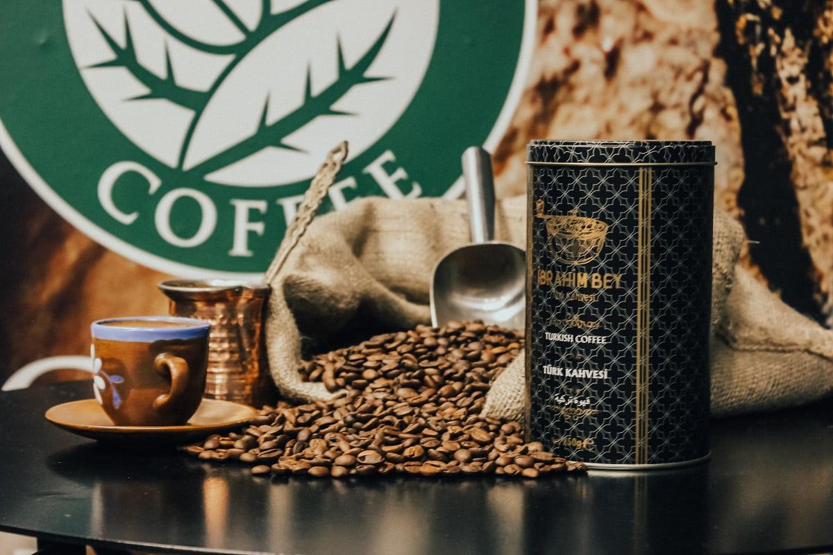 پودر قهوه ترک ابراهیم بی 250 گرمی قوطی TURKISH COFFEE iBRAHiM BEY