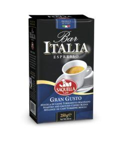 پودر قهوه اسپرسو گران گوستو ایتالیا بار ساکوئلا SAQUELLA Bar Italia Gran Gusto