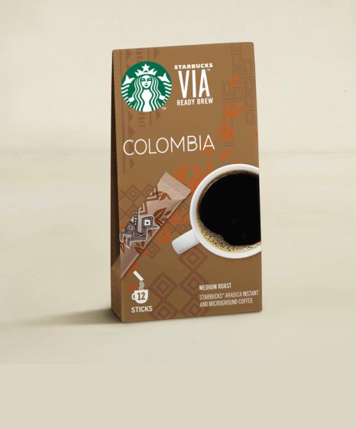 قهوه فوری استارباکس کلمبیا Starbuks Colombia Ready Brew