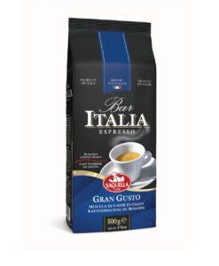 دانه قهوه اسپرسو بار گران گوستو ساکوئلا 500 گرمی SAQUELLA Gran Gusto