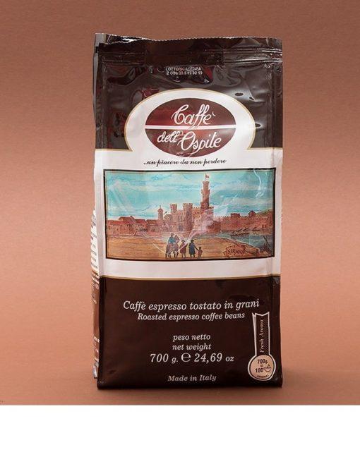دانه قهوه اسپرسو پرکافئین کافه دل اوسپیته