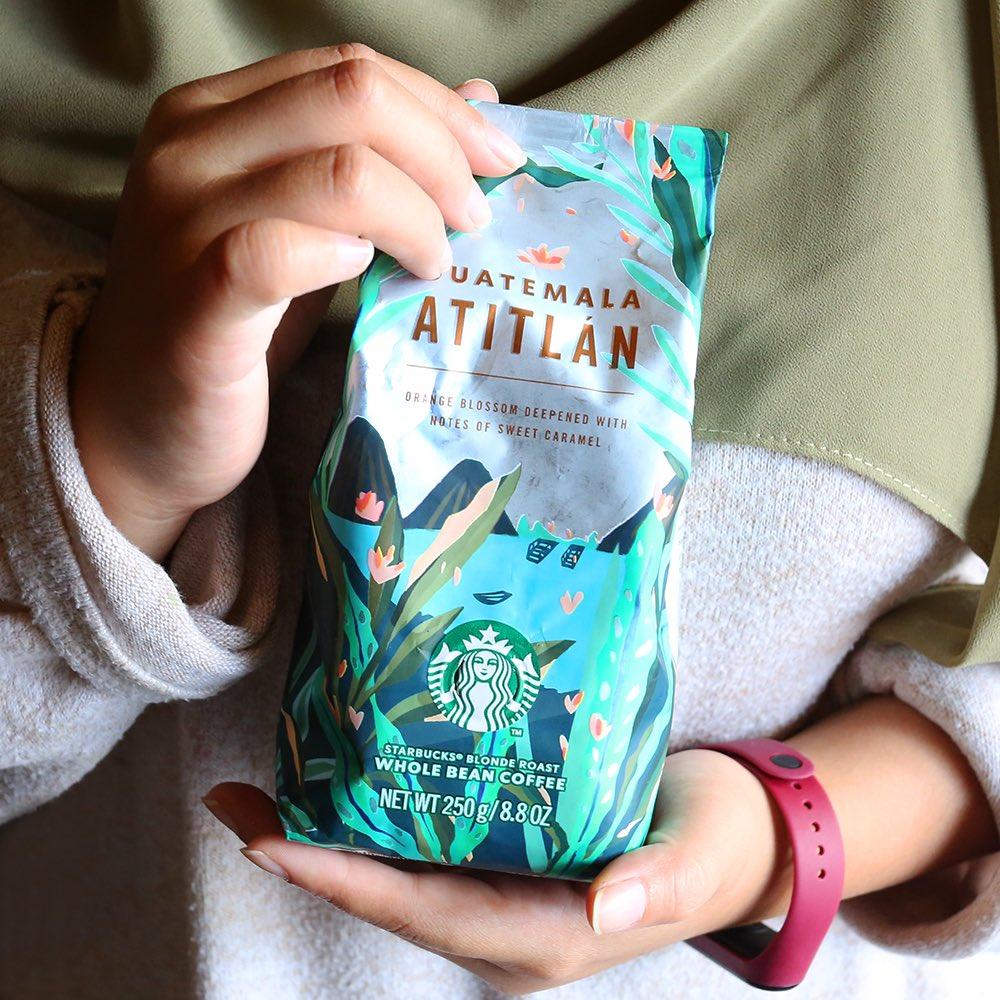 دانه قهوه گواتمالا آتیتلان استارباکس 250 گرمی StarBucks Guatemala Atitlán 100% arabica