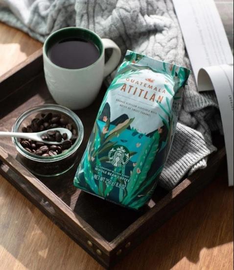 دانه قهوه گواتمالا آتیتلان استارباکس 250 گرمی StarBucks Guatemala Atitlán 100%