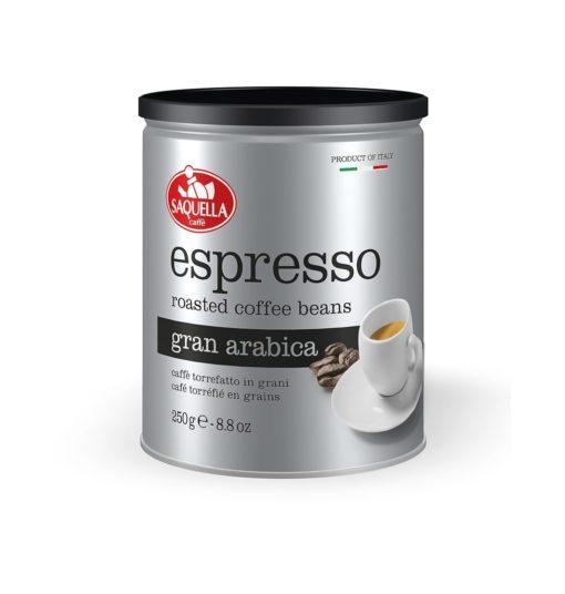 دانه قهوه عربیکا اسپرسو ساکوئلا SAQUELLA Espresso Gran Arabica